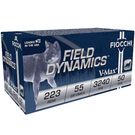 Fiocchi 223 Remington 55 Grain VMAX 50 Rounds