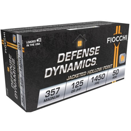 Fiocchi 357 Magnum 125 Grain Jacketed Hollow Point  50 Rounds