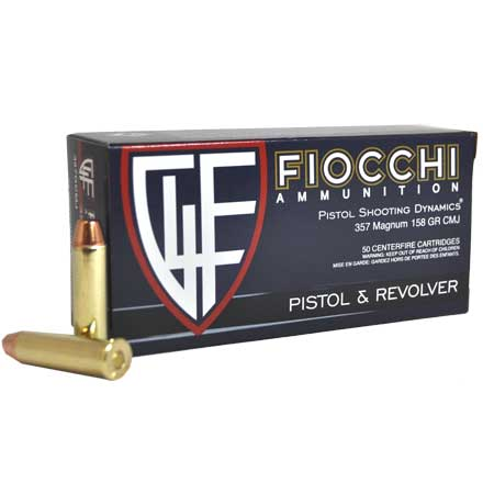Fiocchi 357 Magnum 158 Grain Complete Metal Jacket Flat Point 50 Rounds