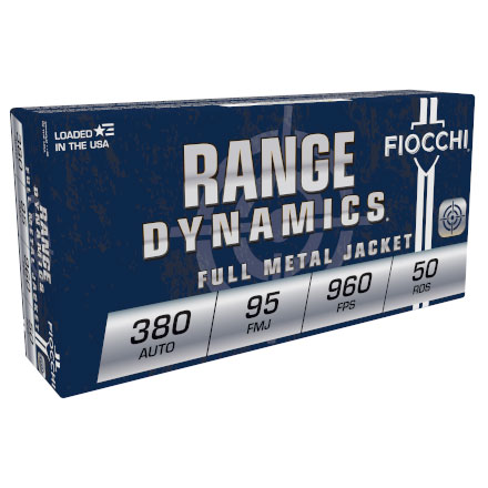 Fiocchi 380 Auto 95 Grain Full Metal Jacket 50 Rounds