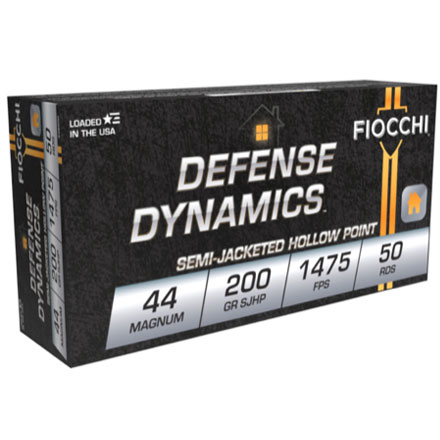 Fiocchi 44 Magnum 200 Grain Semi-Jacketed Hollow Point 50 Rounds