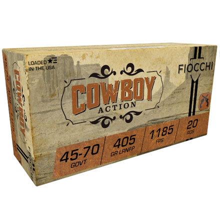 Fiocchi 45-70 Government 405 Grain Lead Round Nose Flat Point 20 Rounds