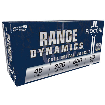 Fiocchi 45 Auto 230 Grain Full Metal Jacket 50 Rounds