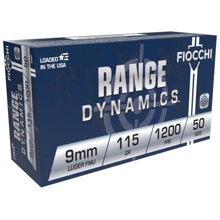 Fiocchi 9mm Luger 115 Grain Full Metal Jacket 50 Rounds
