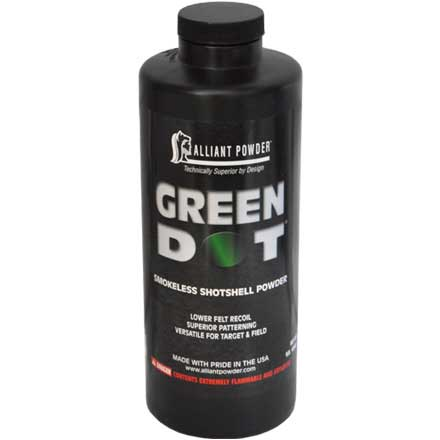 Alliant Green Dot Smokeless Shotshell Powder 1 Lb