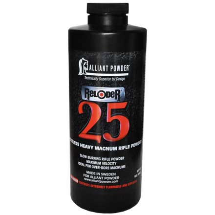 Alliant Reloder 25 Smokeless Heavy Magnum Rifle Powder 1 Lb