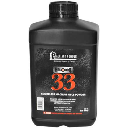 Alliant Reloder 33 Smokeless Rifle Powder 8 Lb