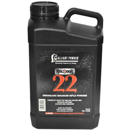 Alliant Reloder 22 Smokeless Magnum Rifle Powder 5 Lb