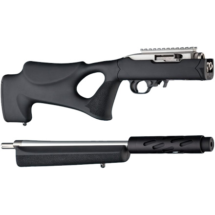Ruger 10/22 Takedown Thumbhole Rubber Overmolded Stock Standard Barrel Channel Black