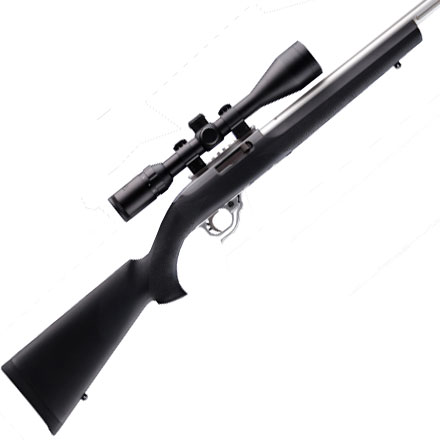 Ruger 10/22 .920 Diameter Bull Barrel Magnum Action Overmold Stock Black Finish
