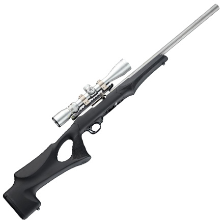 Ruger 10/22 Tactical Thumbhole Rubber Overmolded Stock.920 Barrel Channel Black