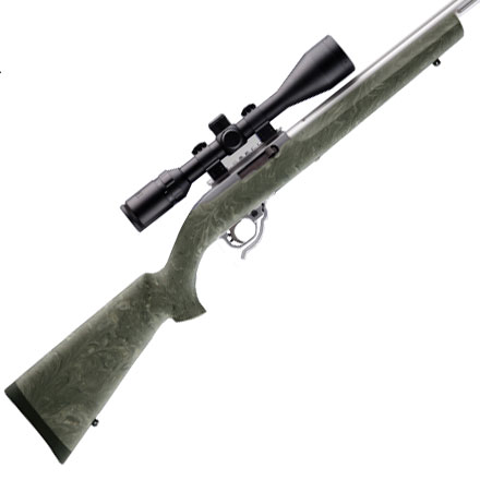 Ruger 10/22 .920 Diameter Bull Barrel Overmolded Rubber Stock Ghillie Green Camo Finish