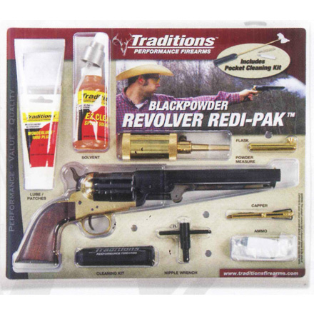 "Image for .44 Caliber 7.375"" Blued 1851 Navy Redi-Pak / Walnut / Brass"