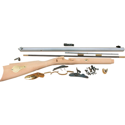 50 Caliber 28 inch St  Louis Hawken Rifle Kit / Select Raw Hardwood