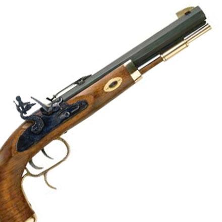 50 Caliber Trapper Pistol Flintlock Select Hardwood Grip