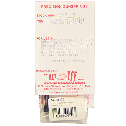 Colt 1911/CMMDR STD Firing Pin Spring (Pak of 1)