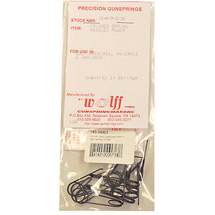 Colt AR-15/M-16/M4/CAR15 RP Trigger Spring Reduced Power (Pak of 10)