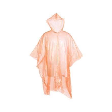 Emergency Rain Poncho 2 Per Pack (One Size Fits Most)