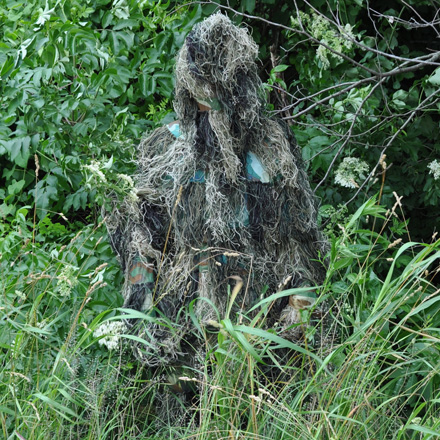 Camo Ghillie Suit Adult XLarge Jacket, Pants, Weapon Wrap and Removable Hood