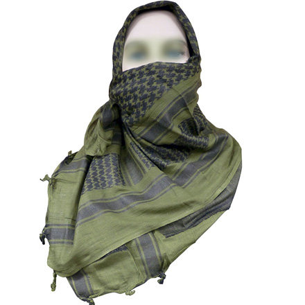 "Image for Coalition Desert Shemagh 42""x42"" Olive Drab/Black"
