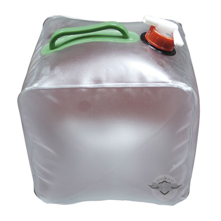 Collapsible Water Bag - 5 Gal Clear Heavyweight PVC Comes With Handle and Spigot