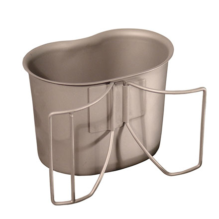Canteen Cup, GI Spec Stainless With Wire Handle