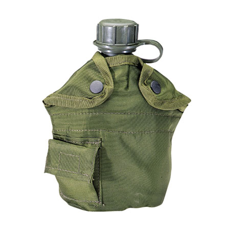 Canteen Cover, 1 Quart Nylon, Olive Drab Insulated