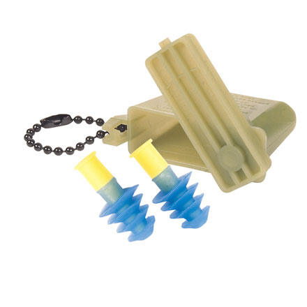 Image for GI Earplugs, US Military Issue With Plastic Case and Chain