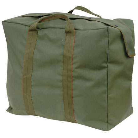 "Flight Kit Bag, GI Spec Olive Drab 1000 Denier Nylon 22""X20""x12"" Web Straps"