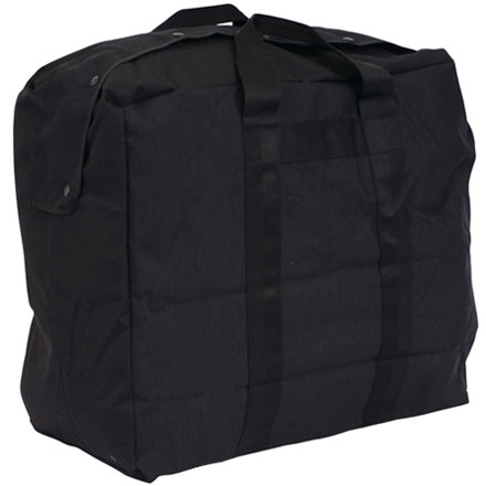 "Image for Flight Kit Bag, GI Spec Black 1000 Denier Nylon 22""x20""x12"" Web Strap Handles"