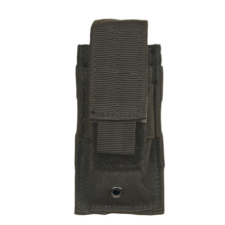 Single Mag Pistol Pouch With Adjustable Retention Strap Black Nylon