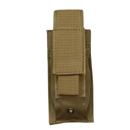 Single Mag Pistol Pouch With Adjustable Retention Strap Coyote Nylon