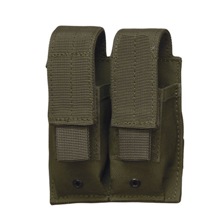 Double Mag Pistol Pouch With Adjustable Retention Strap Olive Drab Nylon