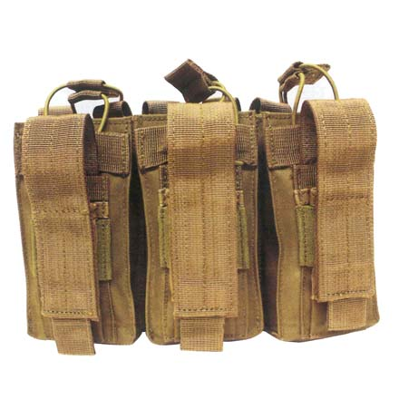 Open Top Triple Mag Pouch Coyote