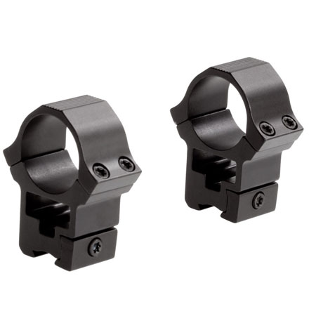 "Image for 1"" Rimfire/Airgun Sport Rings 3/8"" Dovetail High See Through Matte Finish"