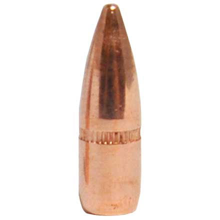 22 Caliber .224 Diameter 55 Grain FMJ Boat Tail With Cannelure 500 Count