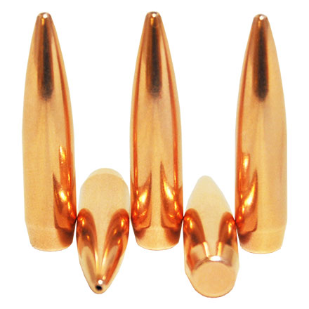 6.5mm .264 Diameter 123 Grain Boat Tail Hollow Point 250 Count