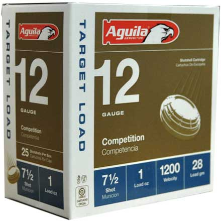 "Aguila 12 Gauge 2-3/4"" 1 oz 1200 fps #7.5 Shot 25 Rounds"
