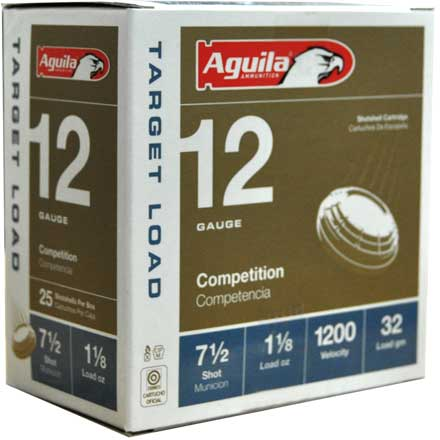 "Aguila 12 Gauge 2-3/4"" 1-1/8 oz Heavy 1200 fps #7.5 Shot 25 Rounds"