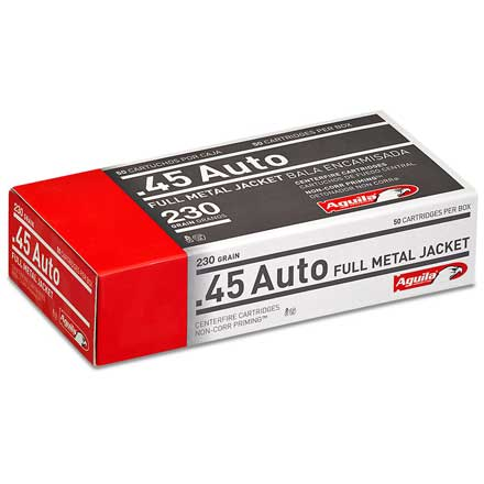Aguila 45 Auto Full Metal Jacket 230 Grain 50 Rounds