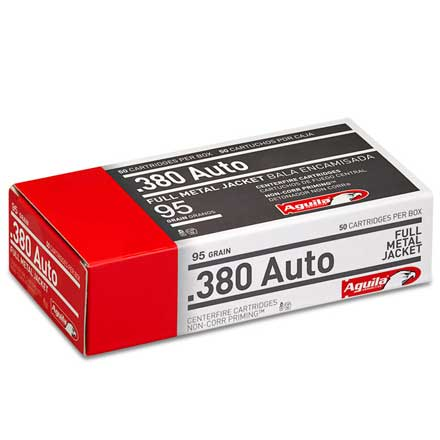 Aguila 380 Auto Full Metal Jacket 95 Grain 50 Rounds
