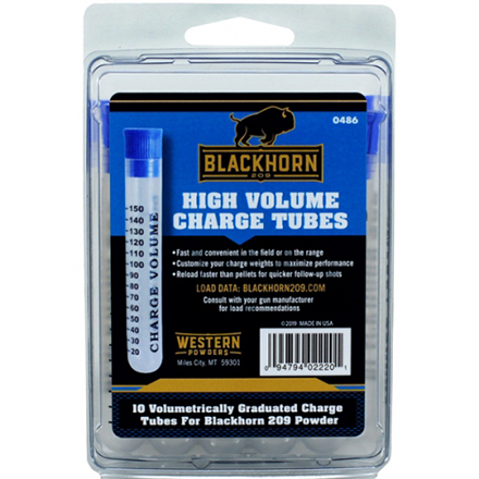 Blackhorn 209 Powder Measure Tubes 150 Charge 10 Per Pack
