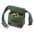Heavy Canvas 2-Compartment Shooters Bag With Belt