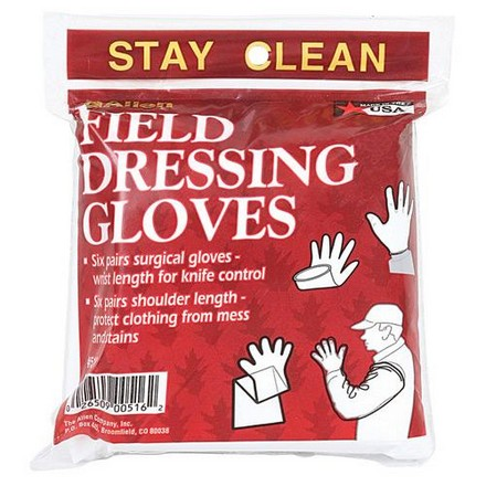 Field Dressing Gloves 12 Pair (6 Wrist/6 Shoulder Length)