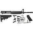 "AR-15 Rifle Kit - 16"" M4 Carbine (Complete Upper, Lower Parts Kit & Carbine Buttstock)"