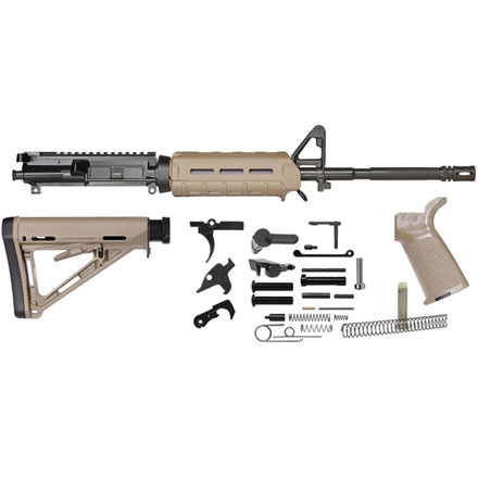 Del-Ton AR-15 Magpul MLOK Rifle Kit - 16 inch M4 Carbine (Complete Upper,  Lower Parts Kit, Dark Earth)