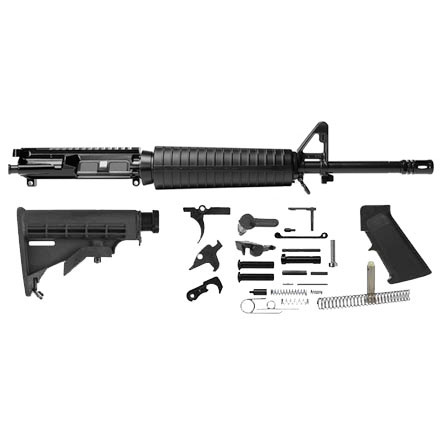 "Image for Del-Ton AR-15 Rifle Kit - 16""  Mid- Length (Complete Upper, L ower Parts Kit & Carbine Buttstock)"