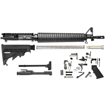 "Del-Ton AR-15 Rifle Kit - 16"" Dissipator Length(Complete Upper, Lower Parts Kit & Carbine Buttstock)"