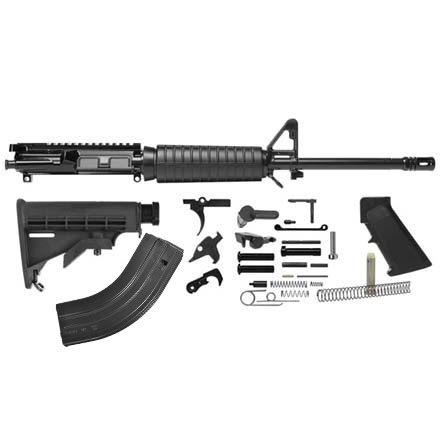 "Del-Ton AR-15 Rifle Kit - 16""  7.62x 39 (Complete Upper, Lower Parts Kit & Carbine Buttstock)"