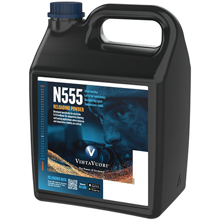 VihtaVuori N555 Smokeless Rifle Powder 8 Lb
